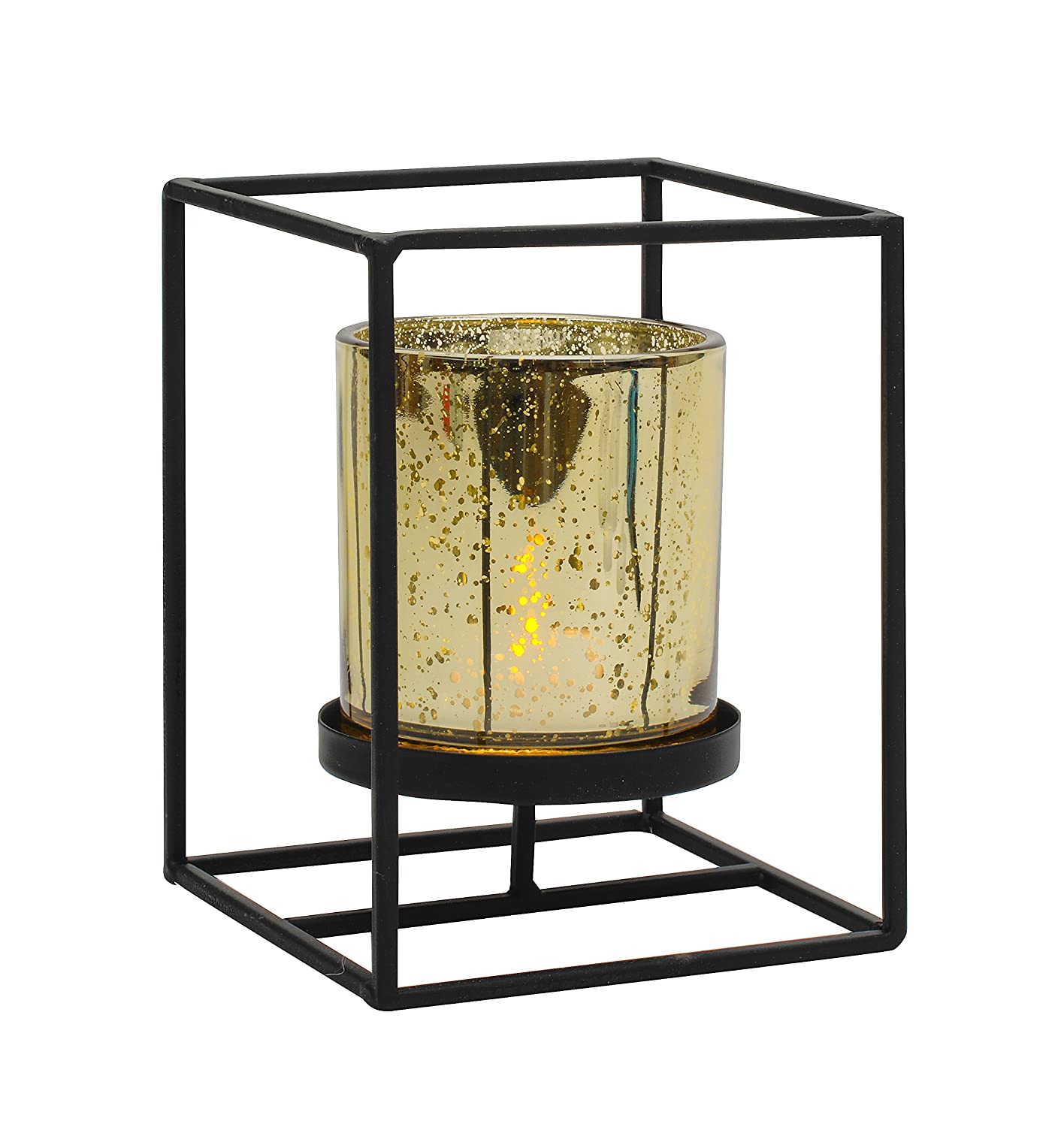 Amazon.com: Biedermann & Sons Metal Box Frame Candle Holder: Home ...
