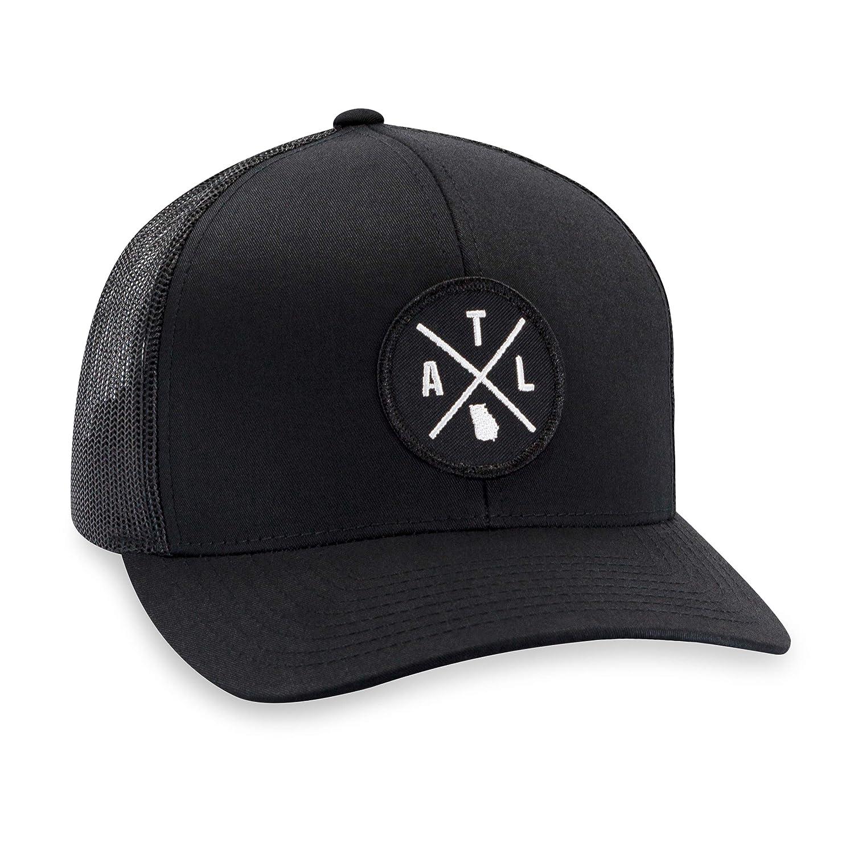 e0cb88c7e ATL Hat – Atlanta Trucker Hat Baseball Cap Snapback Golf Hat (Black)