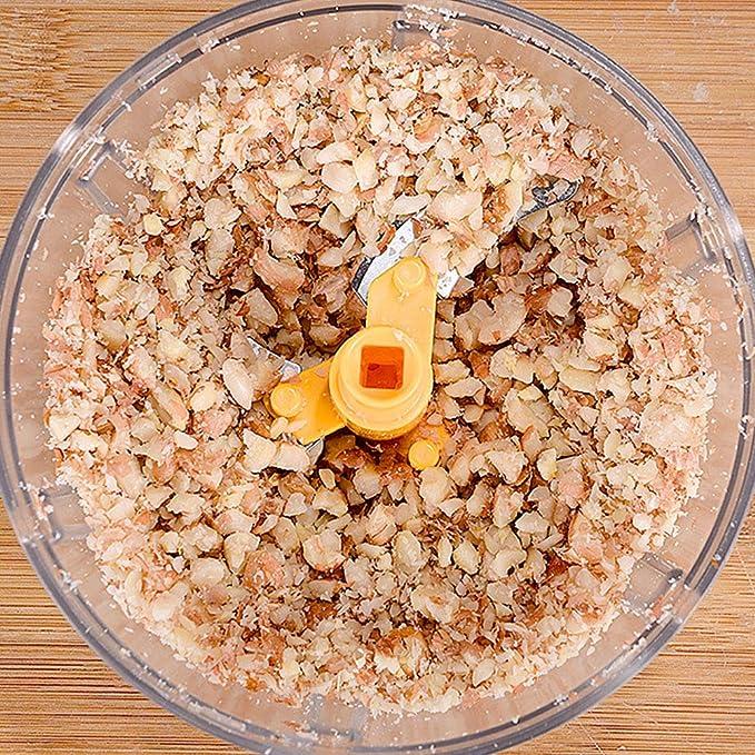 FJJ Picador de Alimentos Manual con 3 Cuchillas afiladas, 400 ml ...