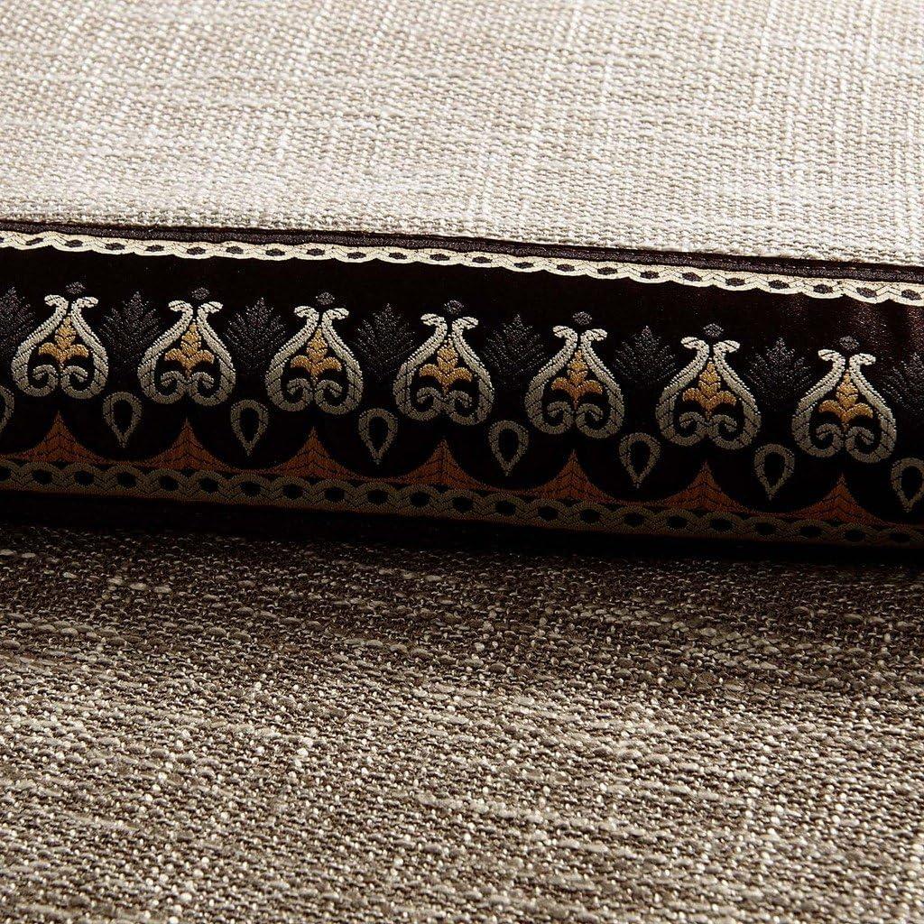 GWELL 1 Pi/èce Rideaux de Fen/être Occultant Rideau Opaque Rideau de Salon Chambre Brun /& Beige 160 x 100 cm