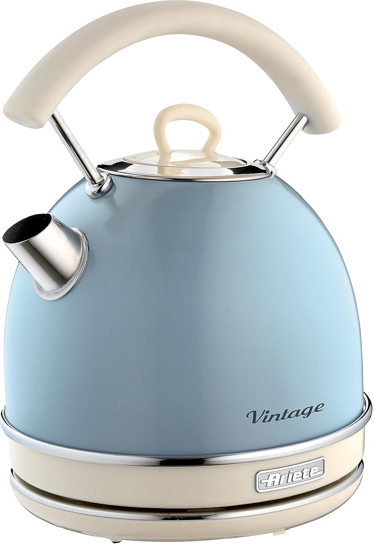 Ariete Kabelloser Wasserkocher Vintage, 1,7 L, 2200 W, blau: Amazon ...