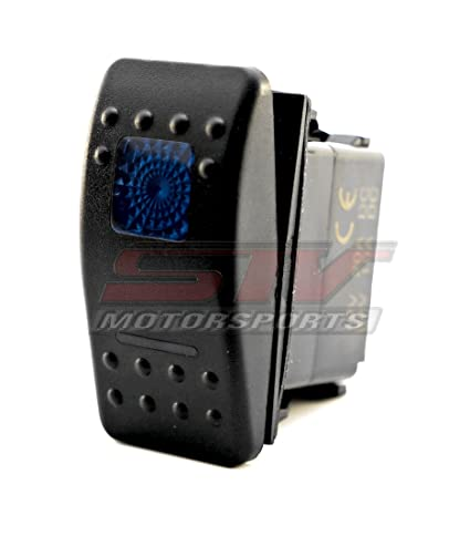 STVMotorsports Blue Auto Rocker Switch ON/ON/Off 12V LED Light 3 Positions  6 Pin Waterproof for LED Light Bar Off Road