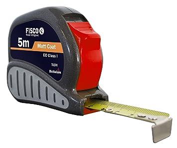 Fisco TL5M Flexómetro profesional Clase I con caja ABS y ...