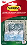 Command Outdoor Light Clips, Clear, 16-Clips (17017CLR-AWES)