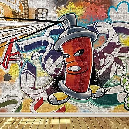 cool graffiti spray can 1 wallpaper mural amazon com