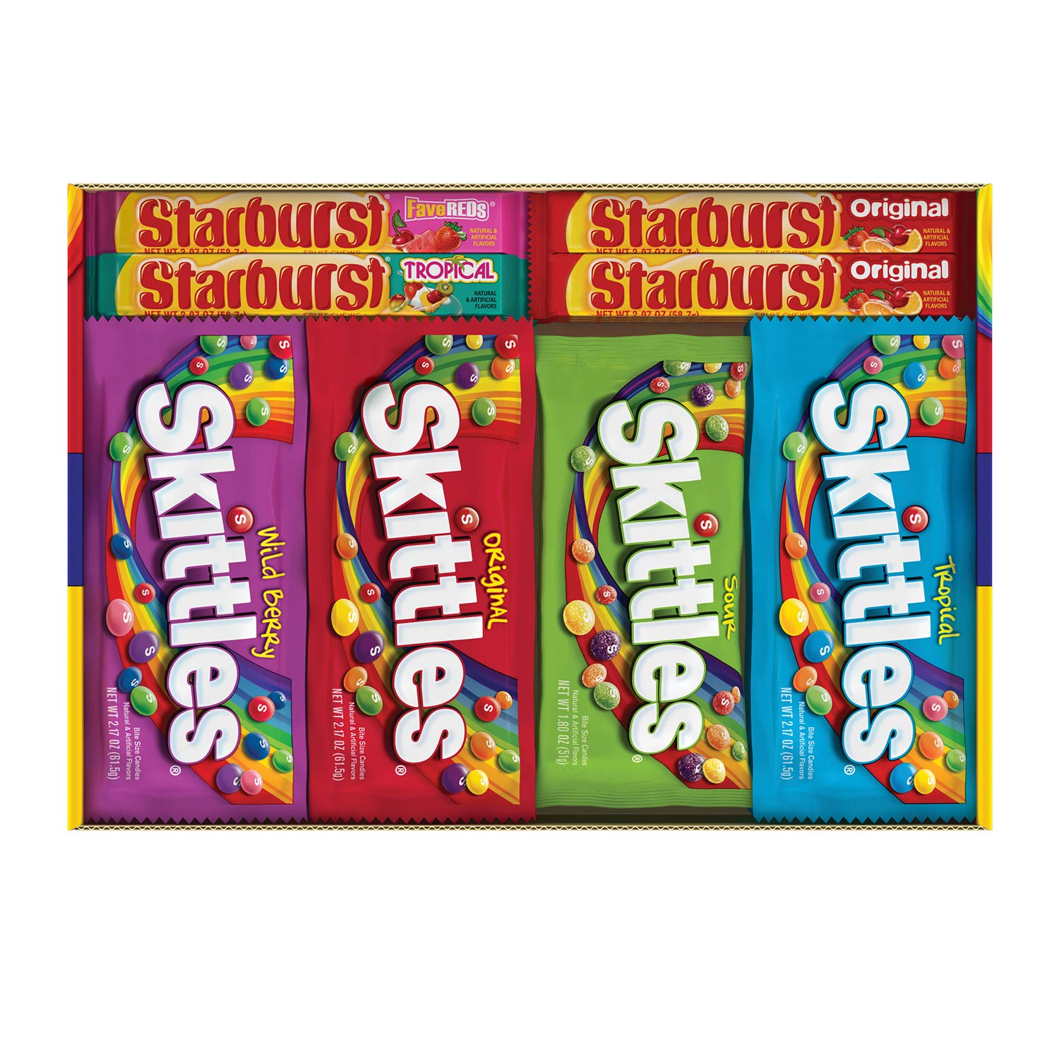 Skittles & Starburst Halloween Candy Full Size Variety Mix 30Count Box by Starburst