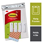 Command Sawtooth Picture Hangers, White, 4 Piece, 8 Strips (PH040-4NA) - Easy to Open Packaging