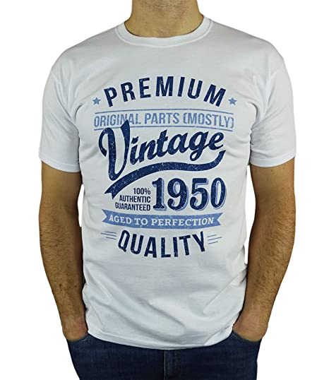 My Generation Gifts 1950 Vintage Year - Aged to Perfection - 70 Cumpleaños Años - Regalo de Cumpleaños Camiseta para Hombre