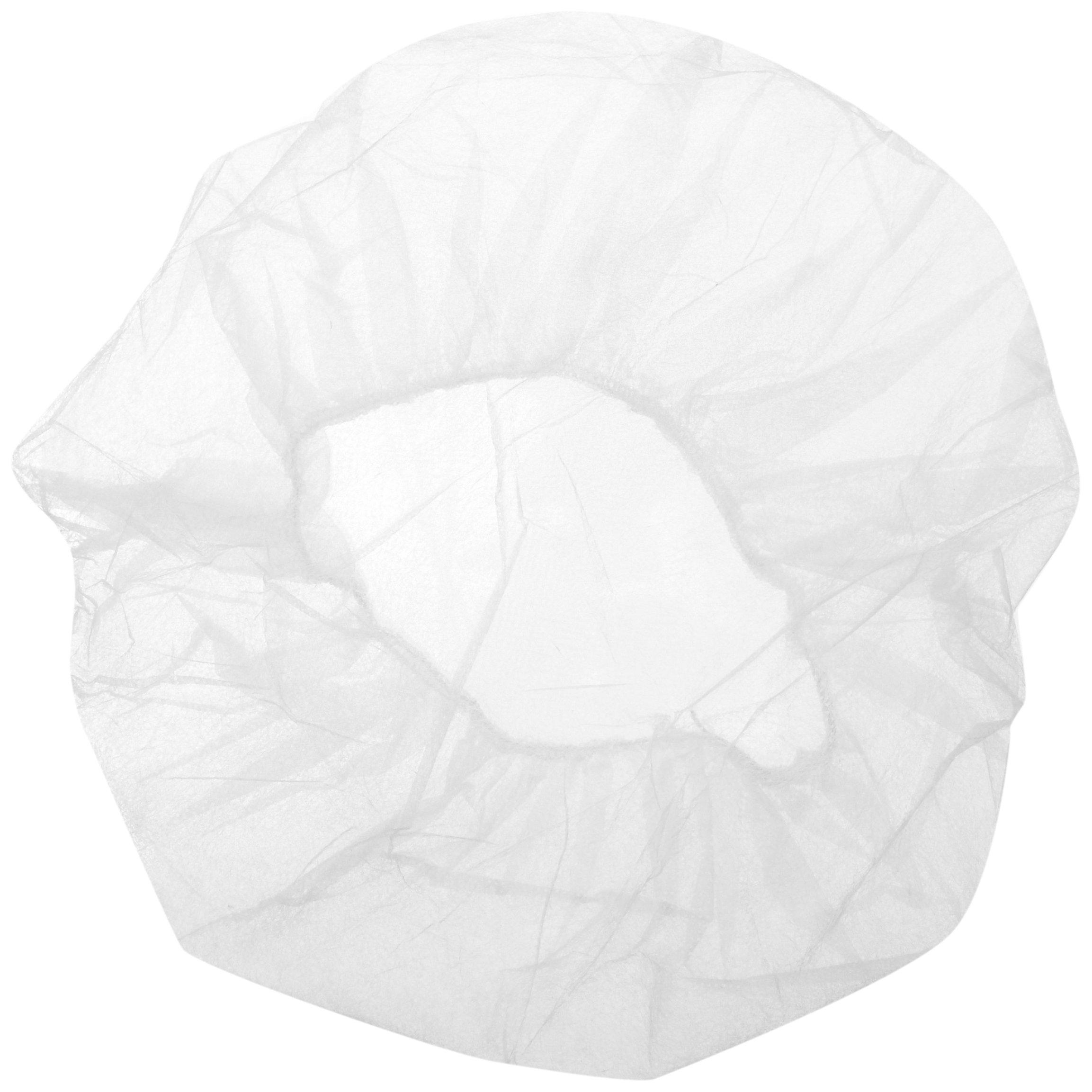 Keystone 110NWI-10-21-WBG White Lightweight Polypropylene Bouffant Cap, 21'' Size (Case of 1000) by Keystone