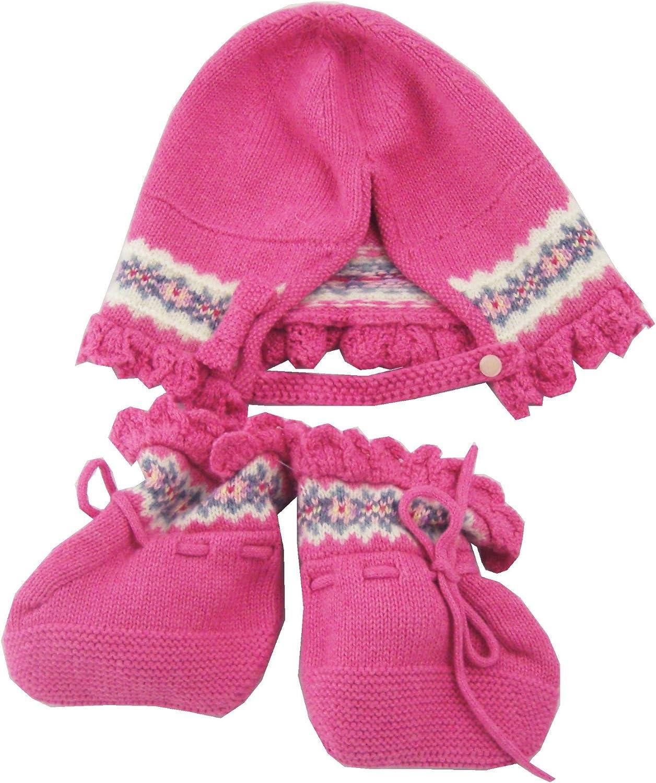 Polo Ralph Lauren Baby Girls Fair Isle Hat and Bootie Set