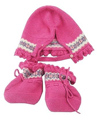 5fbcdc1e8 Amazon.com  Polo Ralph Lauren Baby Girls Fair Isle Hat and Bootie ...