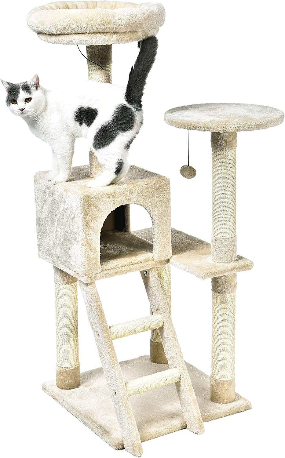 AmazonBasics Cat Tree with Platform, Scratching Posts, X-Large