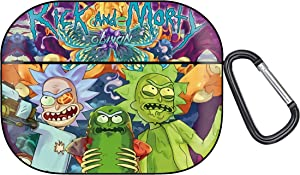 Rick n Morty AirPods Pro Case, Protective Soft Silicone Cute Luxury Fashion Cover with Keychain for Teens