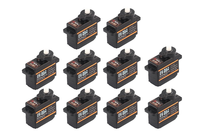 10x Emax ES08A Micro Servo 8g 0,1sec 1,8kg z.B. für Multiplex