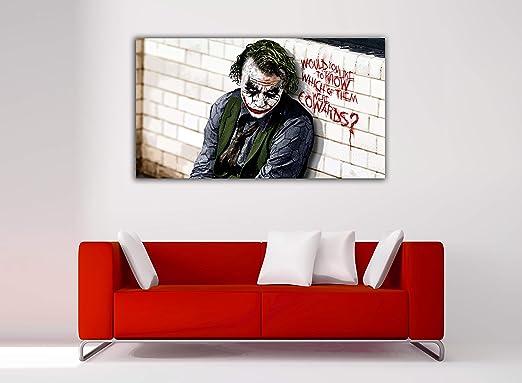 Cuadro Lienzo Joker Batman - Lienzo de Tela Bastidor de Madera de 3 cm - Fabricado en España - Impresión en Alta resolución – Varias Medidas (60, 33): Amazon.es: Hogar