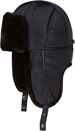 dac107c3 Sakkas 1768 - Victor Adjustable Aviator Trapper Ushanka Hat Warm Faux Fur  and Nylon - Blue