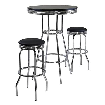 Winsome Summit Pub Table And 2 Swivel Stool Set, 3 Piece