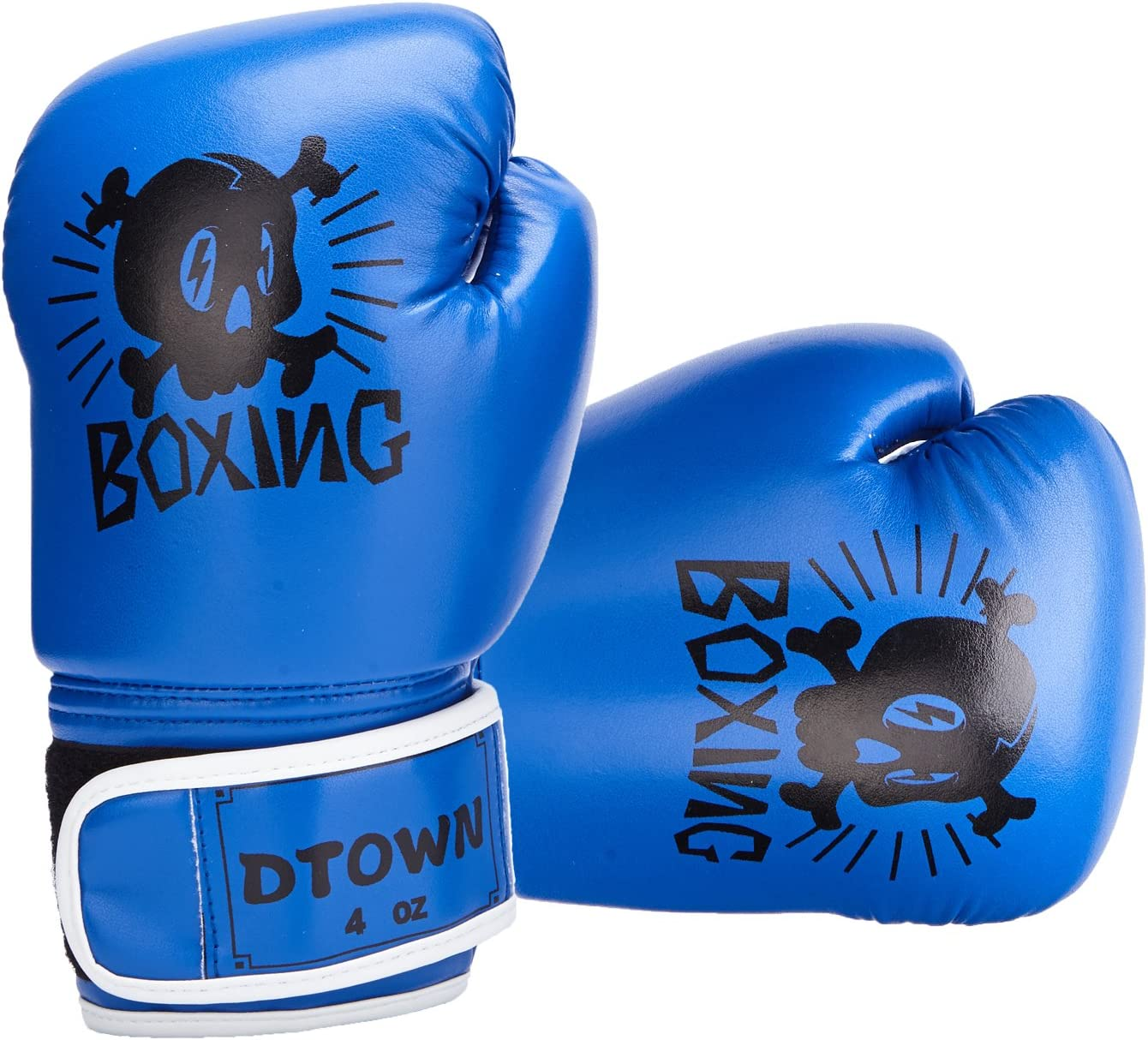 Dtown Kids Boxing Gloves 4oz 6oz Training Gloves for Toddler and Youth Age 3 to 11 Years PU Leather