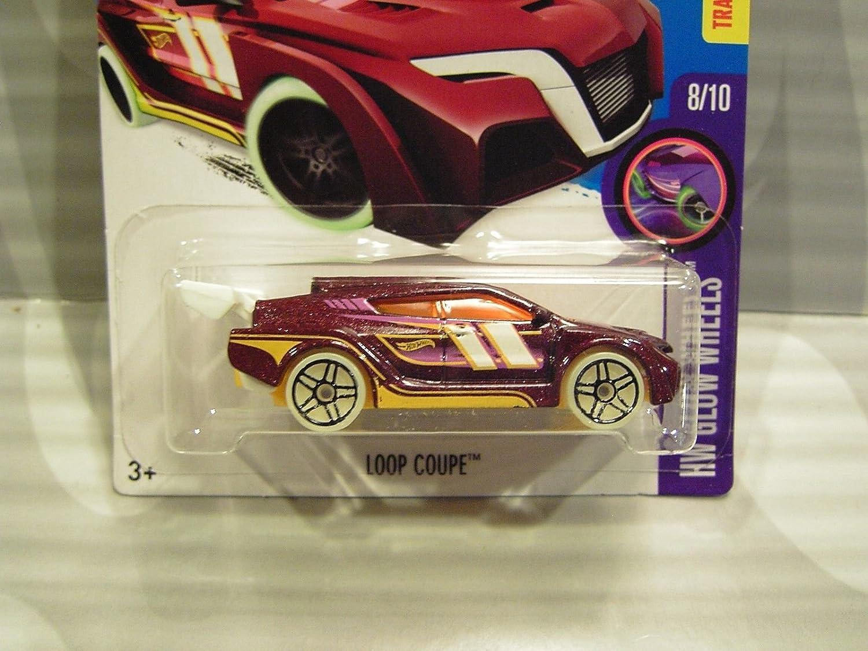 2016 Hotwheels HW Glow Wheels 53 Loop Coupe Drk Purple Mattel