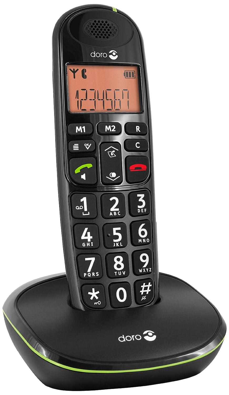 Téléphone fixe DORO PHONEEASY 100W NOIR SOLO SANS REPONDEUR