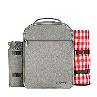 Deals on ONFAON Picnic Backpack Set with Fleece Blanket
