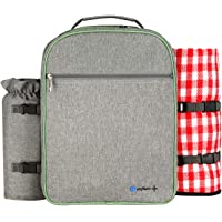 Onfaon 2-Person Picnic Backpack Set