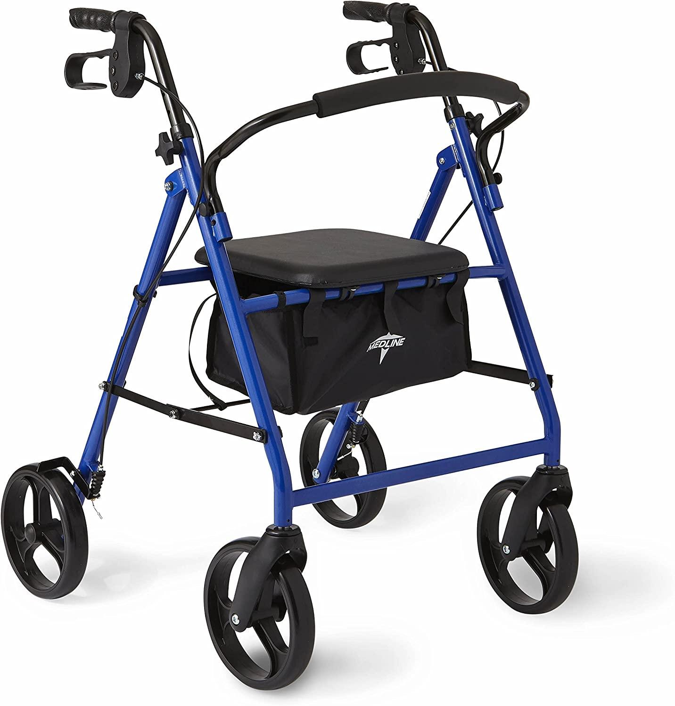 Ryyland-Home Andadores Multifunci/ón beb/é con Altura Ajustable del Lunar Walker andadores Los andadores Color : Blue, Size : 73X64CM