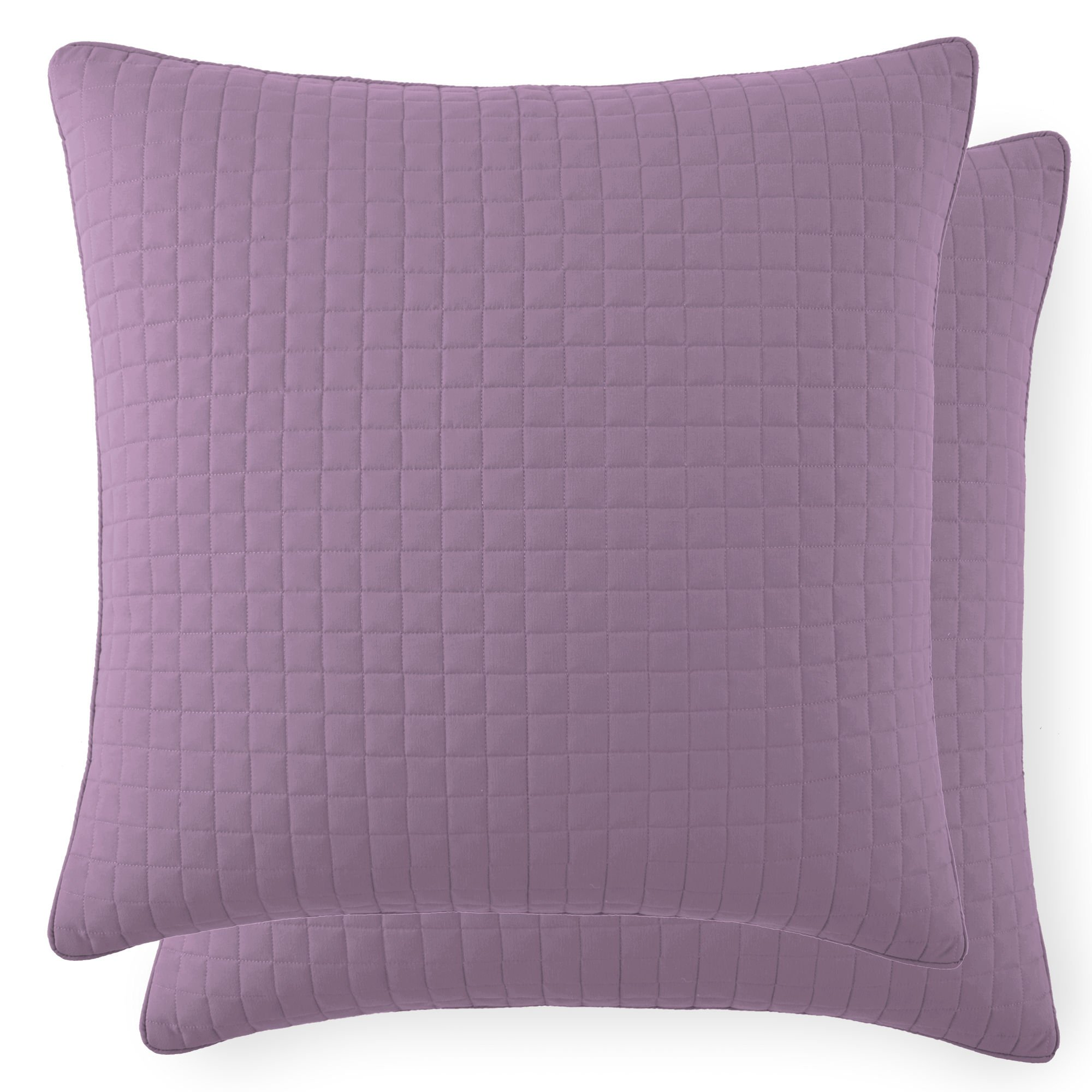 Southshore Fine Linens - VILANO SPRINGS - Pair of Quilted Pillow Sham Covers (No Inserts), 26'' x 26'' , Lavender