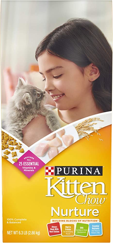 Purina Kitten Chow Dry - Comida para gatitos, enfermera, bolsa de ...