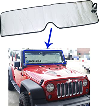 UV11003SV fits Jeep Wrangler 2007 2008 2009 2010 Windshield Sun Shade