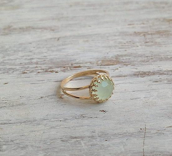 b620625bfca3d Jade Ring Gemstone Ring Green Jade Ring 14K Gold Plated Ring