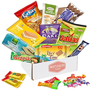 International Snacks Pack - Snacks from Europe, Asia, India, the Middle East and more