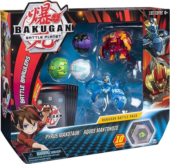 Bakugan Battle Pack Pyrus Maxotaur, Aquos Mantonoid (BIZAK ...