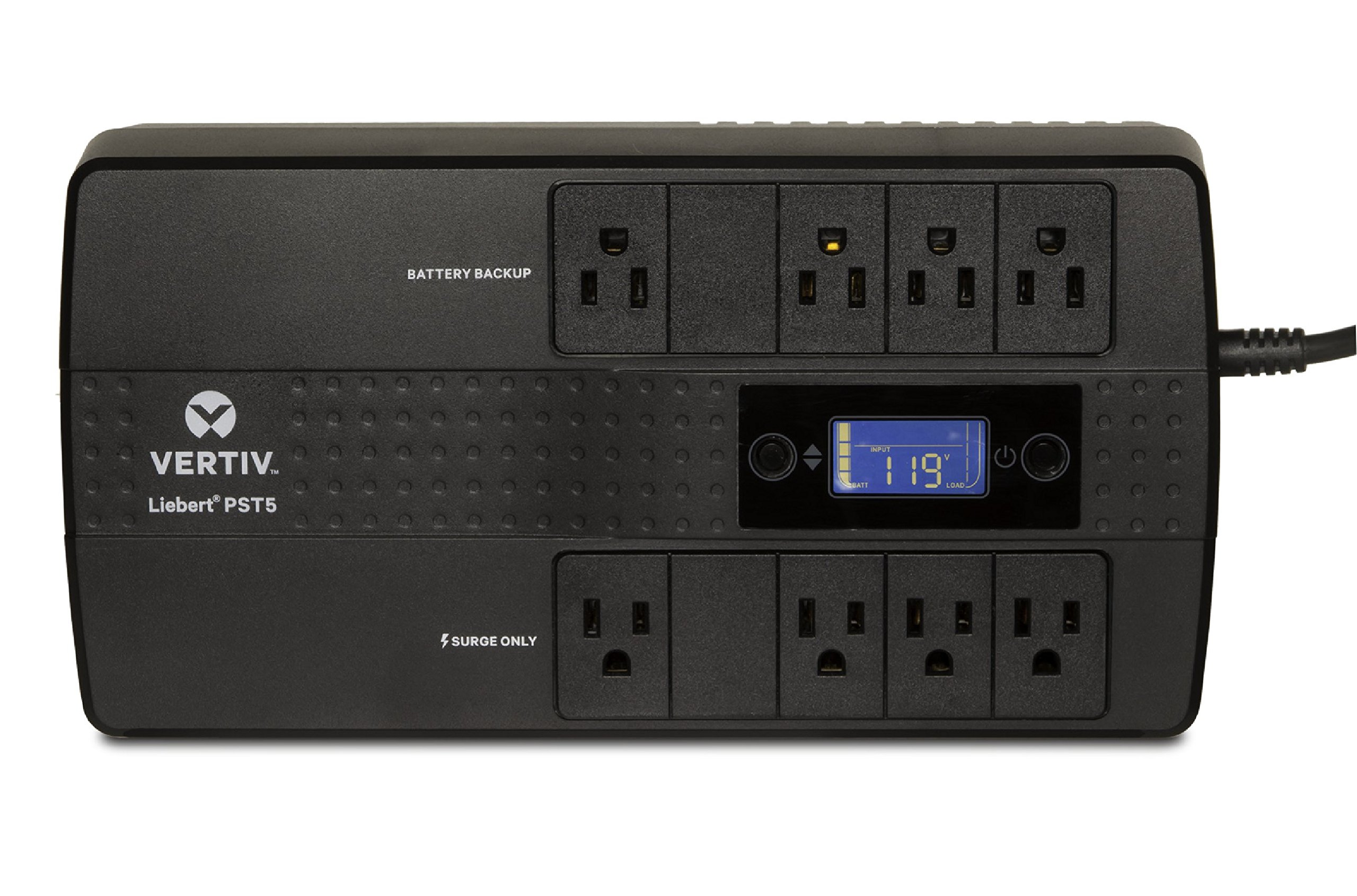 Vertiv Liebert PST5 660VA 400W UPS with Battery Backup & Surge Protection, Eight outlets and a Three-Year, Full Unit Warranty (PST5-660MT120)