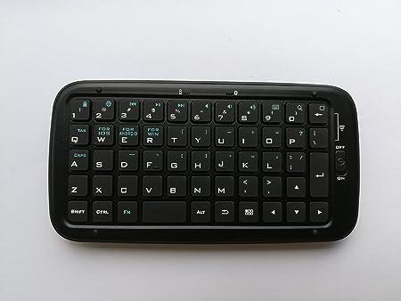 Mini teclado caso con ranuras para tarjetas y soporte para ...