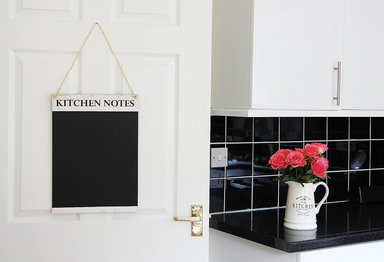 Chalkboards UK Kitchen Notes Chalkboard, Wood, White Washed, 42 x 30 ...