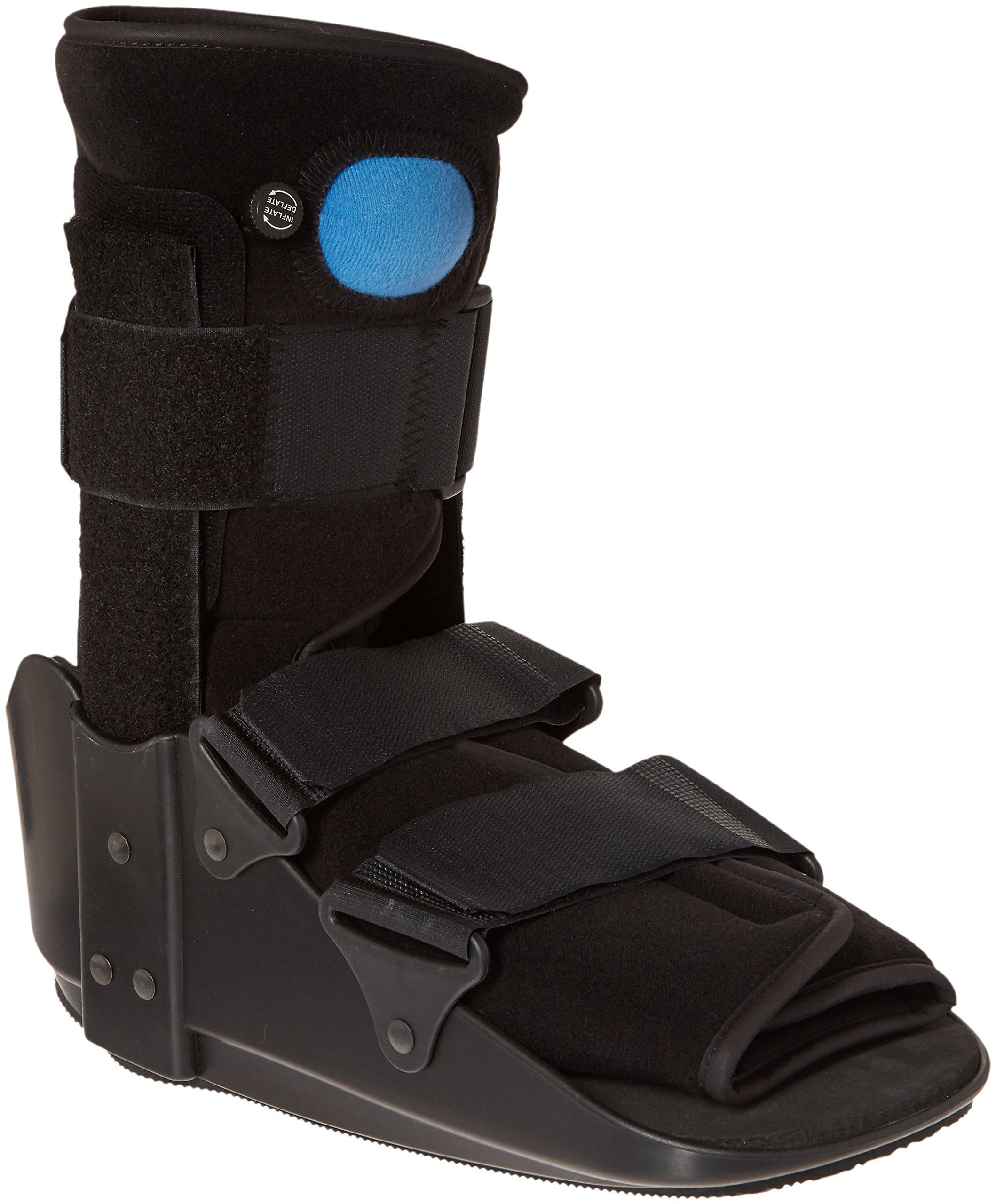 OTC Short Leg Adjustable Air Cast Low Top Walker Boot, Black, Large by OTC