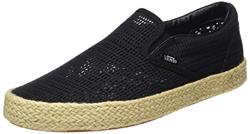 Vans Unisex Adulti Classic SlipOn Scarpe da ginnastica in tela nero scarpa suola Nero UK 8