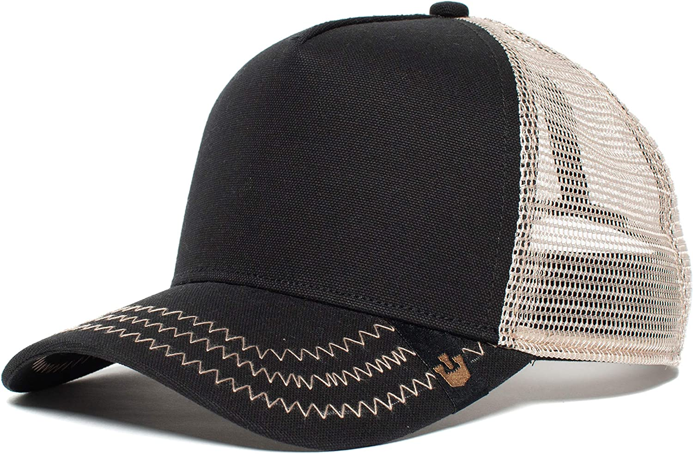 Goorin Bros... Black Out Blank Trucker Snap Back Baseball Hat ...