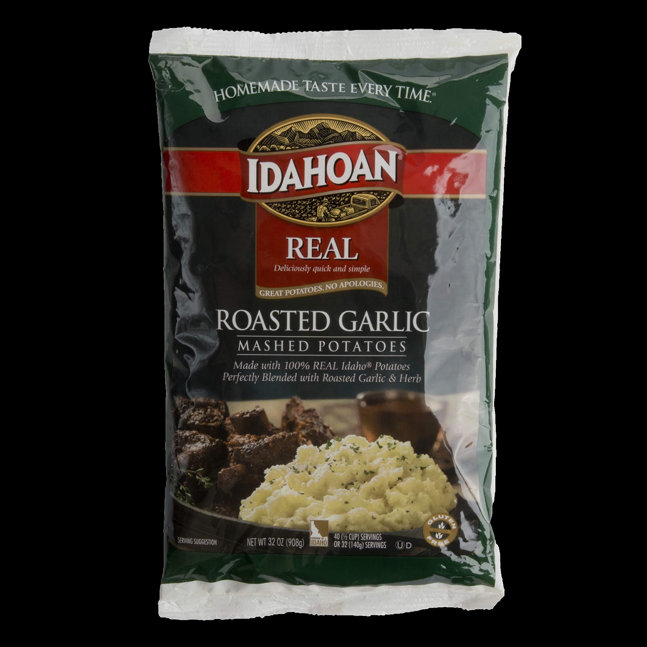 Idahoan Roasted Garlic Real Mash Potatoes, 32 Ounce - 8 per case. by Idahoan