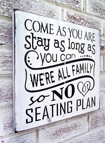no seating plan sign