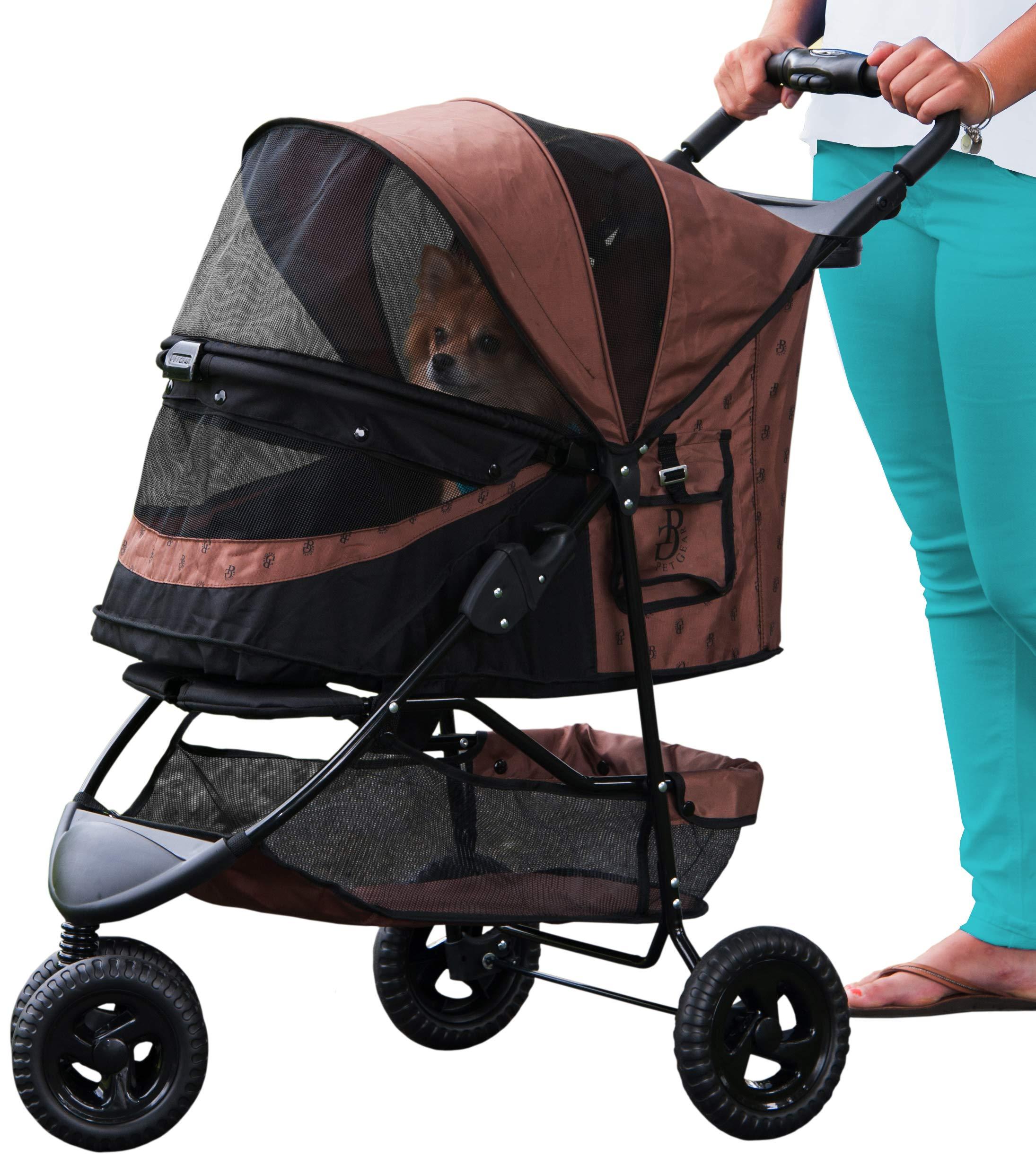 Pet Gear No-Zip Special Edition Pet Stroller, Espresso