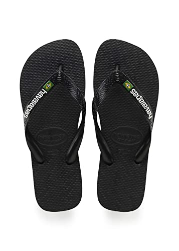 8e818d5f0285c Havaianas Kids HAV Brasil Logo Sandals 1-2 D(M) US Men Black