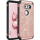 LG V30 Case, LG V30+ Case, LG V35 ThinQ Phone cases, LG V30S ThinQ Cell Phone Case, BENTOBEN Slim 2 In 1 Glitter Bling Sparkl
