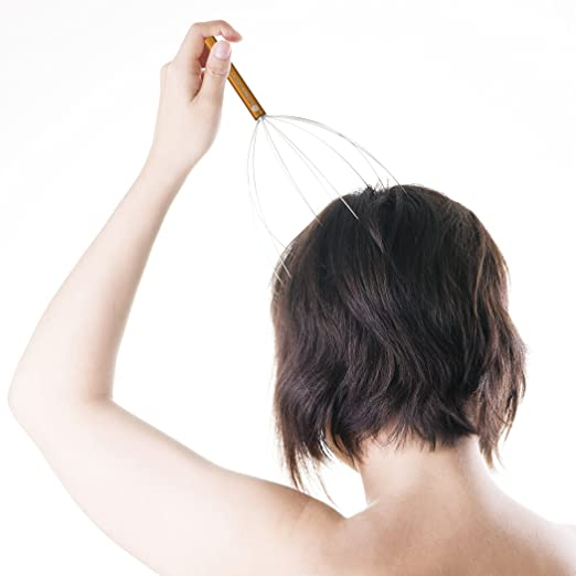 how to use a head massager spider