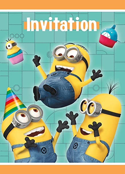 Amazon Com Despicable Me 2 Party Invitations 8 Per Pack Toys Games