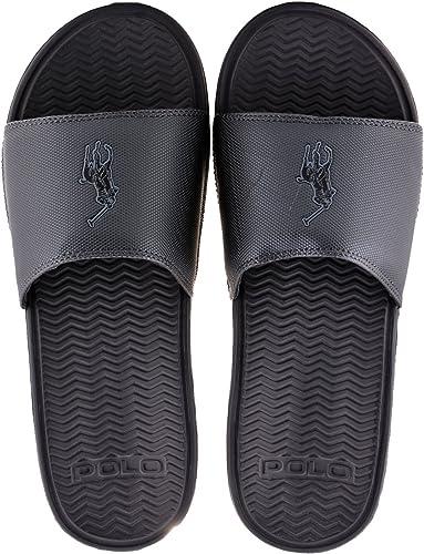CHANCLAS POLO RALPH LAUREN - XZE44-GRE-T45: Amazon.es: Zapatos y ...