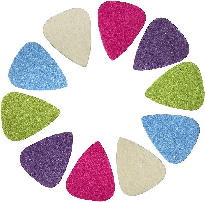 3mm Guitar Picks Plectrums Felt Triangle Mix Colors Acoustic-Electric Bass 10pcs