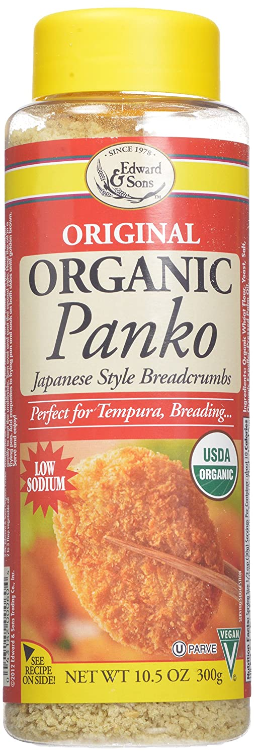 Edward & Sons Organic Panko, Japanese Style Breadcrumbs, 10.5 Ounce Canisters (Pack of 6)