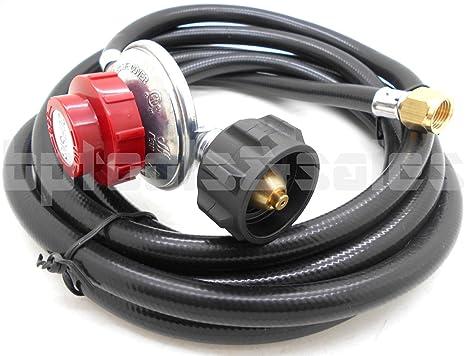 12 pies regulador de propano de alta presión LPG manguera de gas barbacoa Quemador Wok de